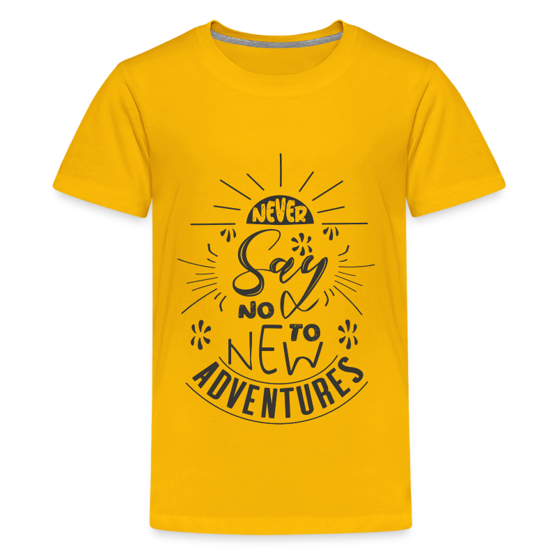 Aventure, dictons et citations marrantes - - T-shirt Premium Ado