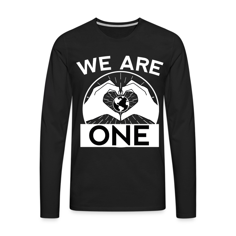 We are One - White - Männer Premium Langarmshirt
