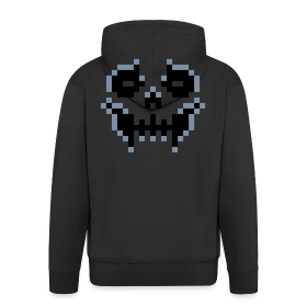 pixel-skull - Men's Premium Hooded Jacket
