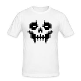 pixel-skull - Men's Slim Fit T-Shirt