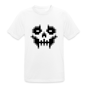 pixel-skull - Men's Breathable T-Shirt