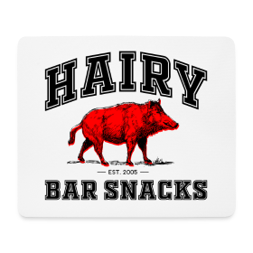 Hairy Bar Snacks College Logo Design - Mouse Pad (horizontal)