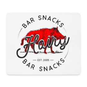Hairy Bar Snacks Boar Brand - Mouse Pad (horizontal)