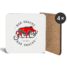 Hairy Bar Snacks Boar Brand - Coasters (set of 4)